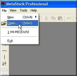 Экспорт данных в MetaStock